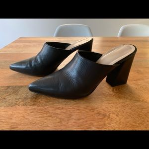 SOLD Leather Mules